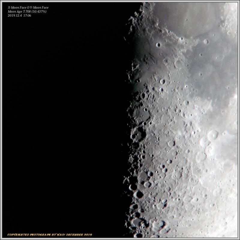 上弦の月・月面X&V_c0198669_18370355.jpg