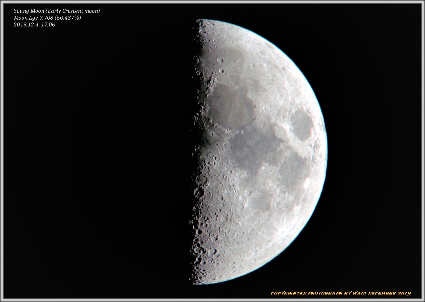 上弦の月・月面X&V_c0198669_18370548.jpg