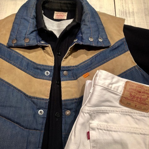 """1950s \"""" ⑤BROTHER \"""" 100% WOOL ‐ マチ付き - VINTAGE C.P.O SHIRTS JACKET ._d0172088_21443321.jpg"""