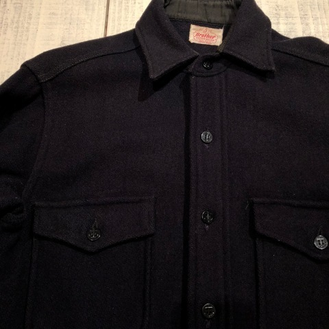 """1950s \"""" ⑤BROTHER \"""" 100% WOOL ‐ マチ付き - VINTAGE C.P.O SHIRTS JACKET ._d0172088_21590164.jpg"""