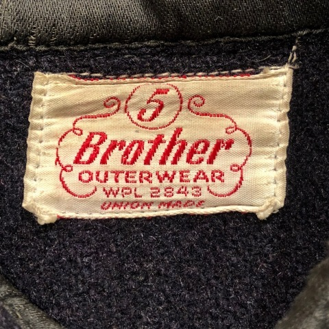 """1950s \"""" ⑤BROTHER \"""" 100% WOOL ‐ マチ付き - VINTAGE C.P.O SHIRTS JACKET ._d0172088_21593695.jpg"""