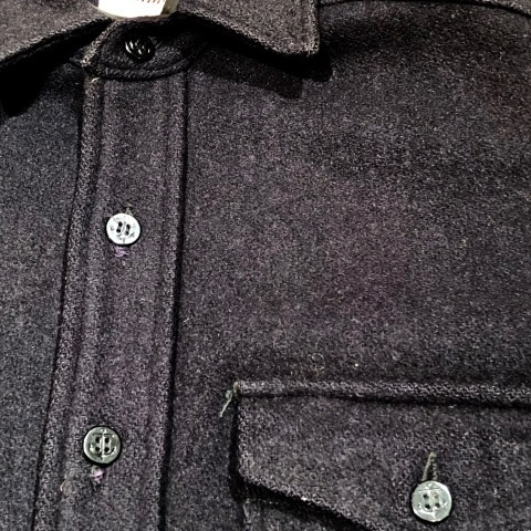 """1950s \"""" ⑤BROTHER \"""" 100% WOOL ‐ マチ付き - VINTAGE C.P.O SHIRTS JACKET ._d0172088_22031727.jpg"""