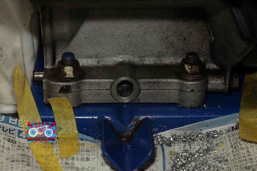 YT660ED ドレンからのオイル漏れ修理_e0126901_08192184.jpg