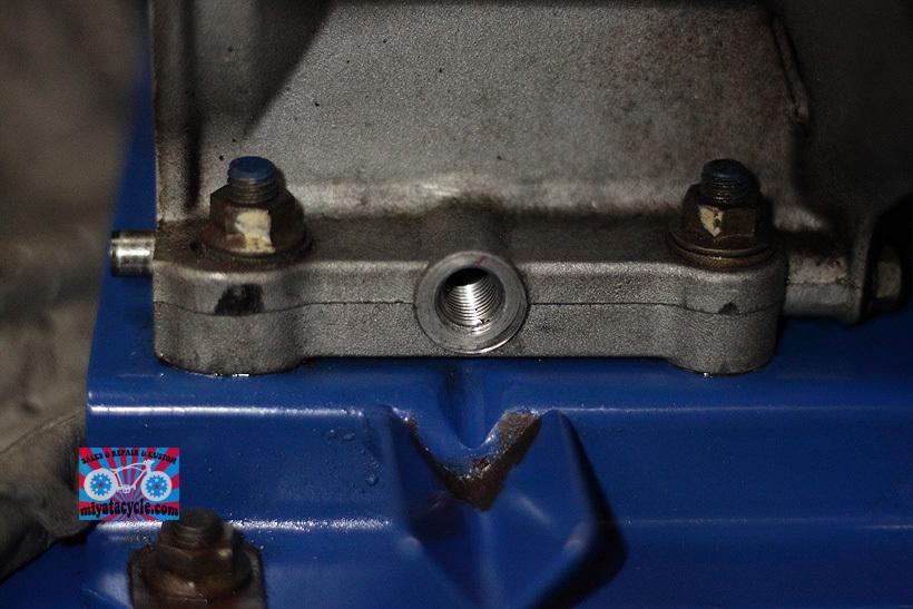 YT660ED ドレンからのオイル漏れ修理_e0126901_08192841.jpg