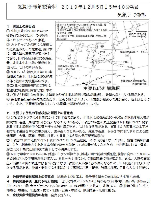 新潟県降雪量予報(2019年12月5日AM/PM) 夕方更新しました_e0037849_21234192.png
