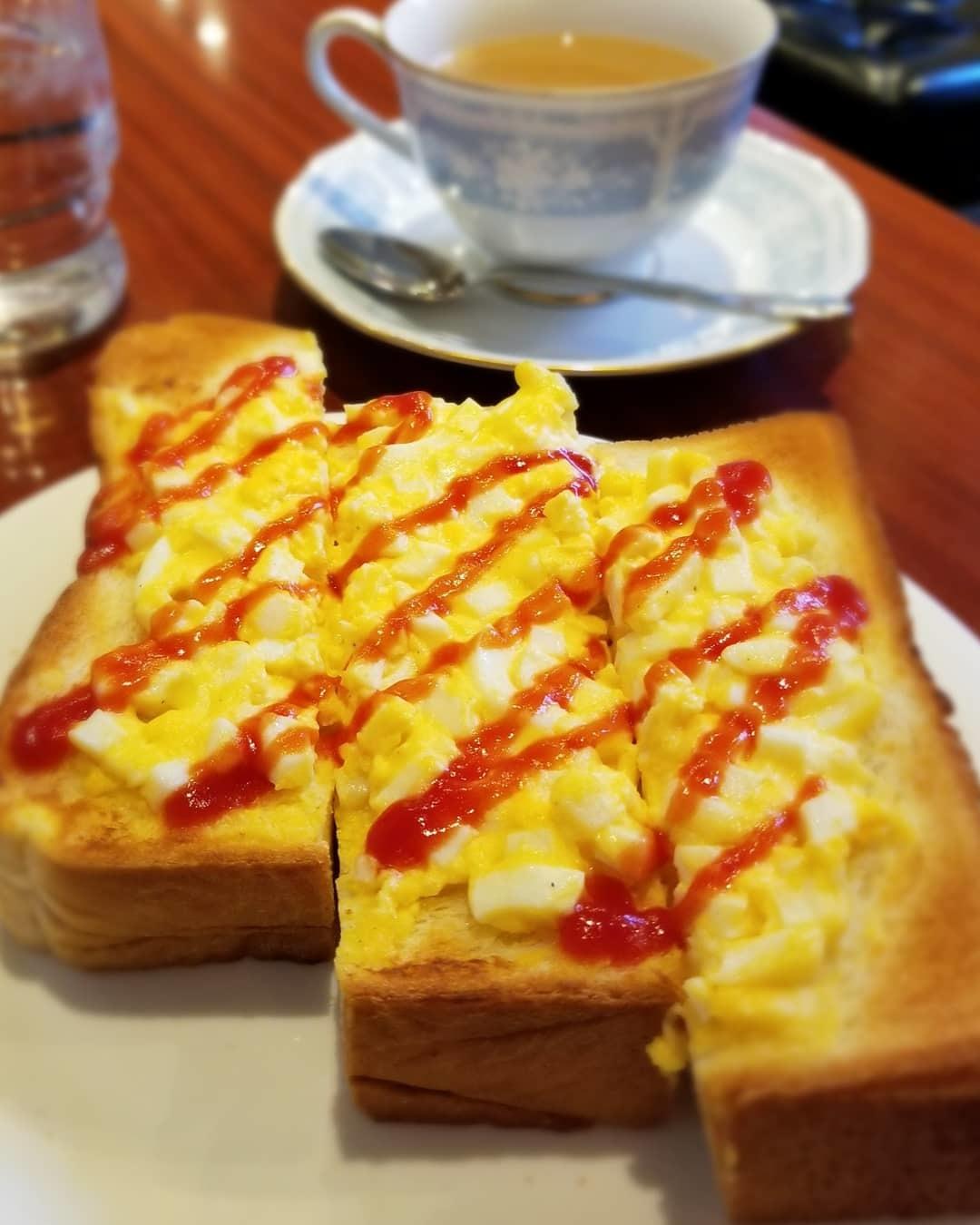 カフェ三番館・なんば店 * OCATに早朝到着した時の大阪モーニング♪_f0236260_23500407.jpg