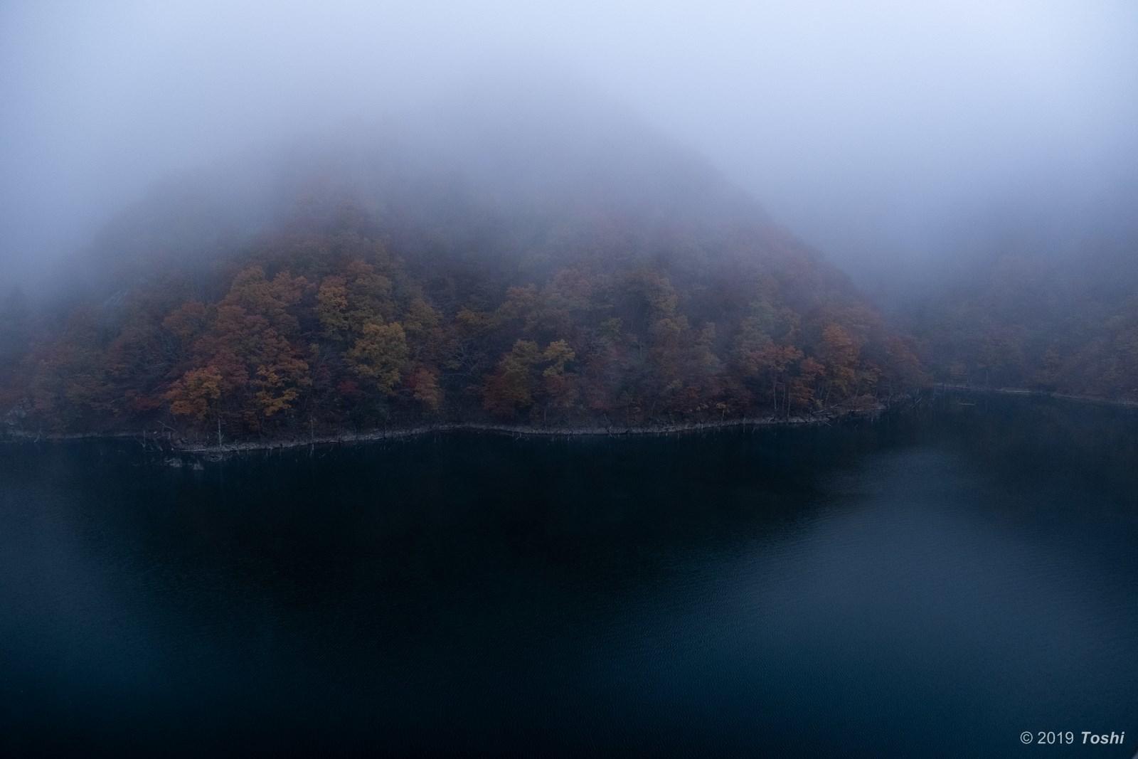 霧の徳山ダム 1_c0350572_23250643.jpg