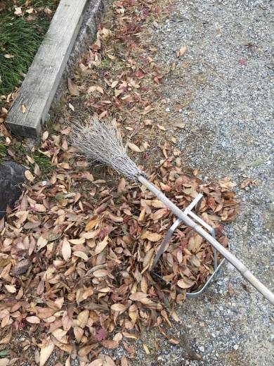 リネンの秋冬ストールとマフラー色々&落ち葉掃き_c0334574_14541414.jpg