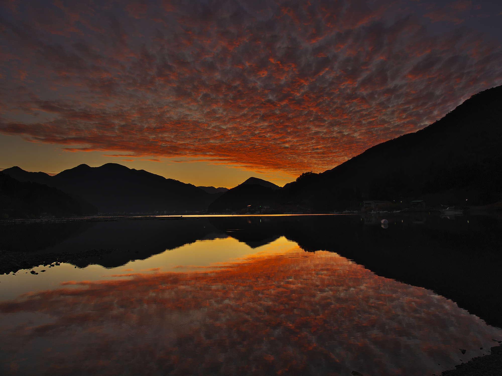 白石湖夕景_d0020300_21271169.jpg