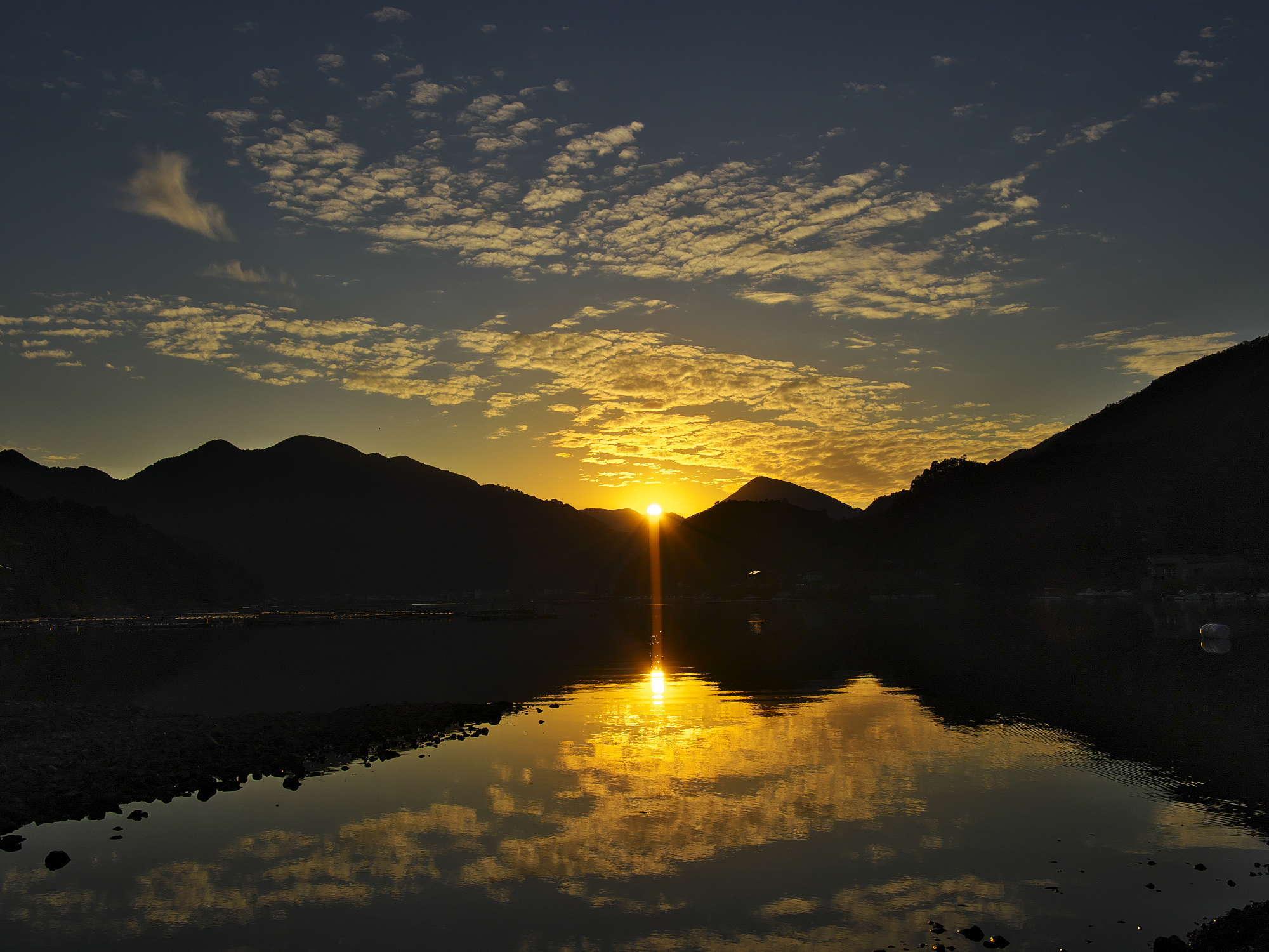 白石湖夕景_d0020300_21272324.jpg