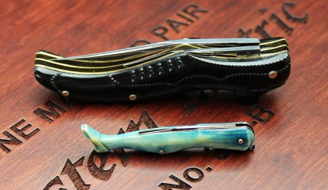 靴型のポケットナイフと脚型の小さなナイフ(アンティーク)_a0389018_11564343.jpg