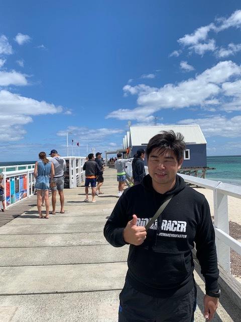 試泳の後は、大会会場すぐ近くの海沿いカフェで、ブランチ❗️_c0188525_06443760.jpg