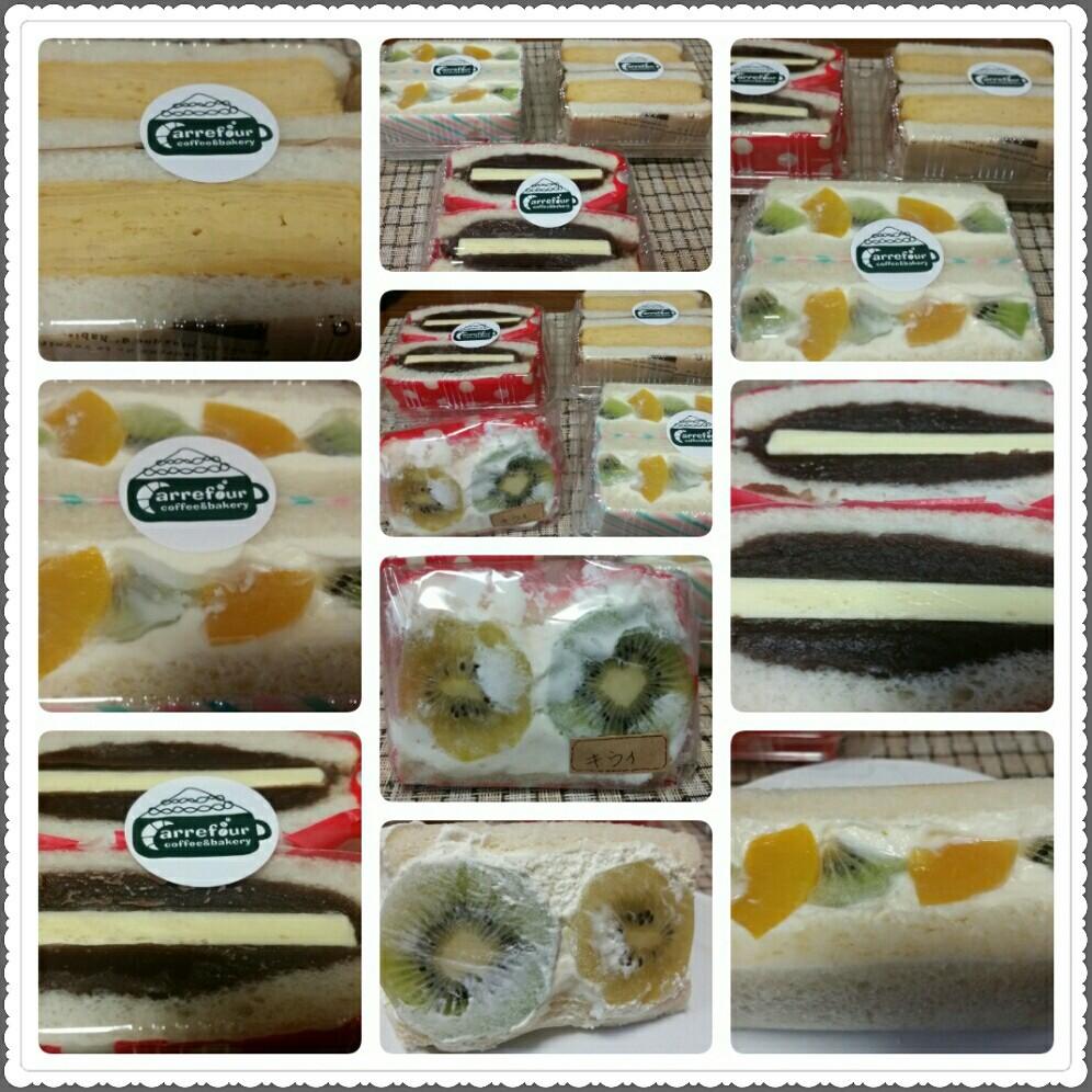 Cafeカルフールのサンドイッチ♪_d0219834_15420381.jpg