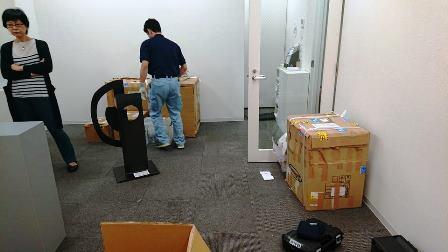 作業日誌(「武田亜希子展」作品(金属彫刻)運搬搬入作業)_c0251346_17180172.jpg