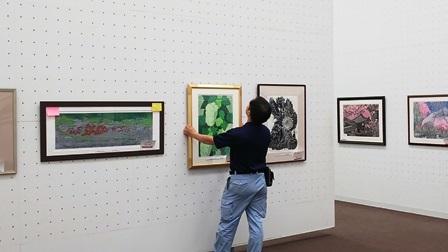 作業日誌(「第60回記念 日本版画会展」の作品展示作業)_c0251346_18451962.jpg