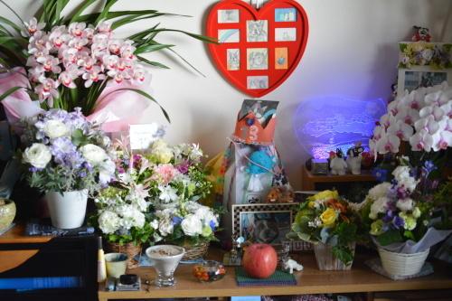 嬉しい林檎とお花♪_b0307951_22011723.jpg