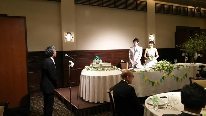 今年も社員の結婚式に招かれで(pq´∀`)┌iiiiii┐(´∀`pq)゚゚_e0009056_12303161.jpg