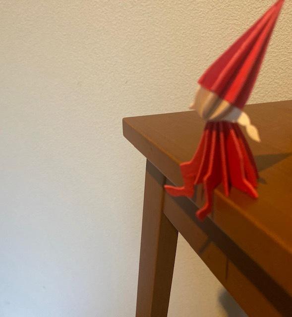 wood craft  実家の小さなサンタさんにほっこり♪_a0165160_10330123.jpg