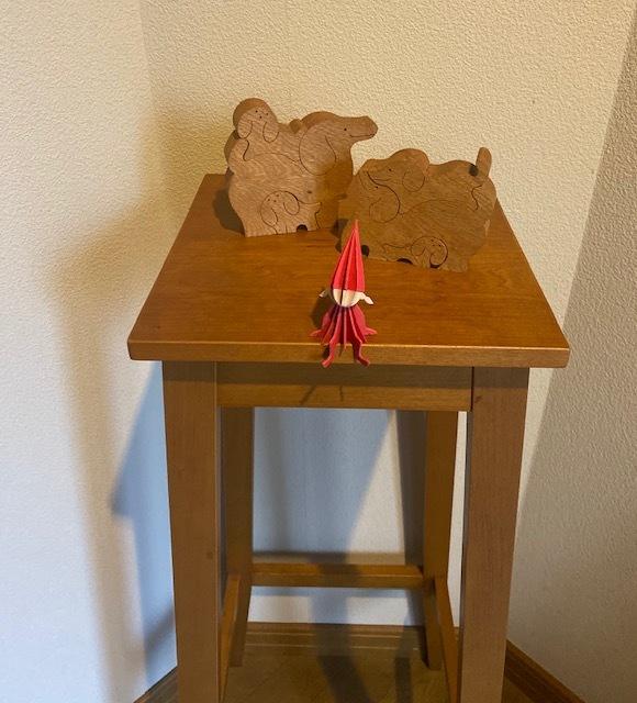 wood craft  実家の小さなサンタさんにほっこり♪_a0165160_10341264.jpg