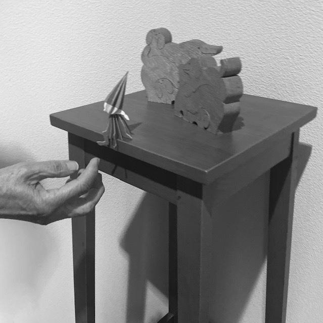 wood craft  実家の小さなサンタさんにほっこり♪_a0165160_10353207.jpg