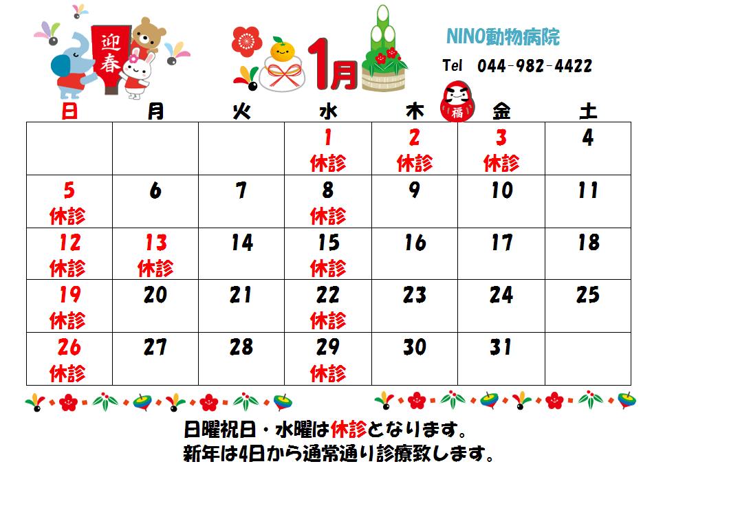 1月の診療日のお知らせ☆_e0288670_16073913.png