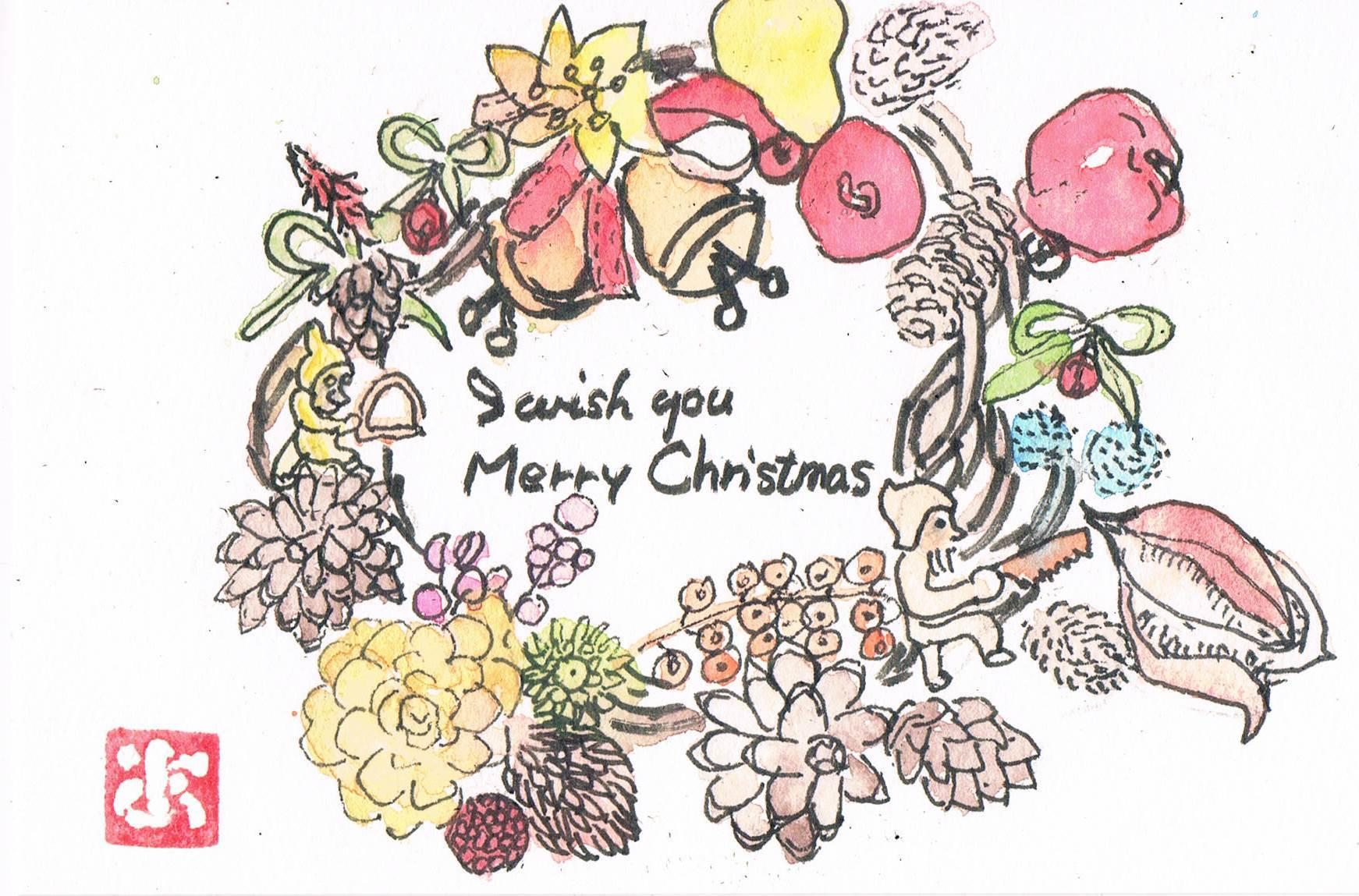 クリスマスリース_e0232277_14570222.jpg
