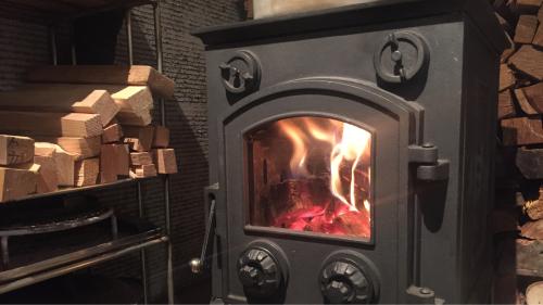 薪ストーブの中で薪が燃えていました_b0029488_14032567.jpg