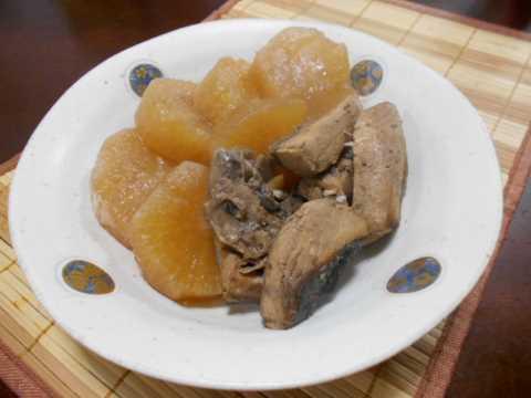 冷凍食品すき家の牛丼&ぶり大根_f0019498_09224508.jpg