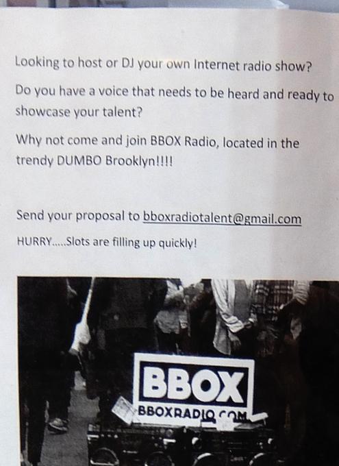 ベスト独立系NYCラジオ局の1つ、BBOX Radioのスタジオに遭遇_b0007805_11314319.jpg