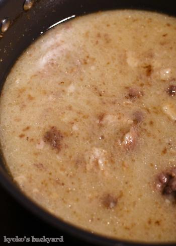 豚骨スープで、バリ辛カレー_b0253205_11384375.jpg