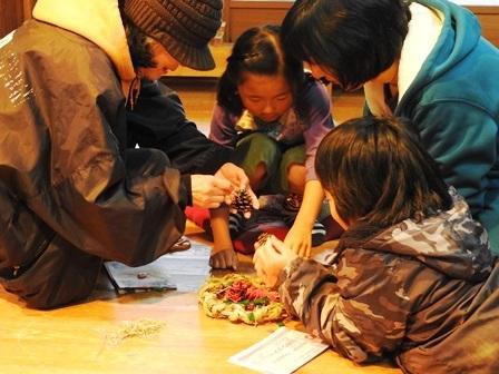 米作り3・ワラでリースを作ろう_a0123836_15363835.jpg