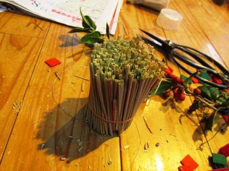 米作り3・ワラでリースを作ろう_a0123836_15365649.jpg