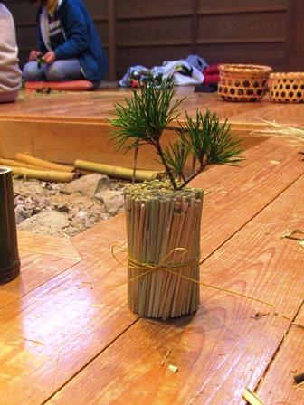 米作り3・ワラでリースを作ろう_a0123836_15380612.jpg