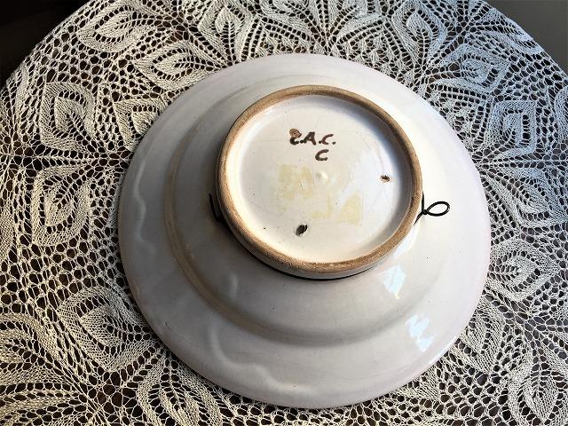 カタラン手描き絵皿12 トリ_f0112550_05284710.jpg