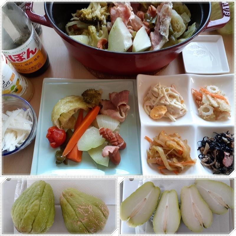 隼人瓜で簡単料理♪_b0236665_08324658.jpg
