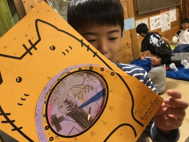 星空キャンプ〔1日目〕宇宙の不思議と天体について学ぶ3日間。初日はネコ型星座版作りに挑戦!_d0363878_00091660.jpg