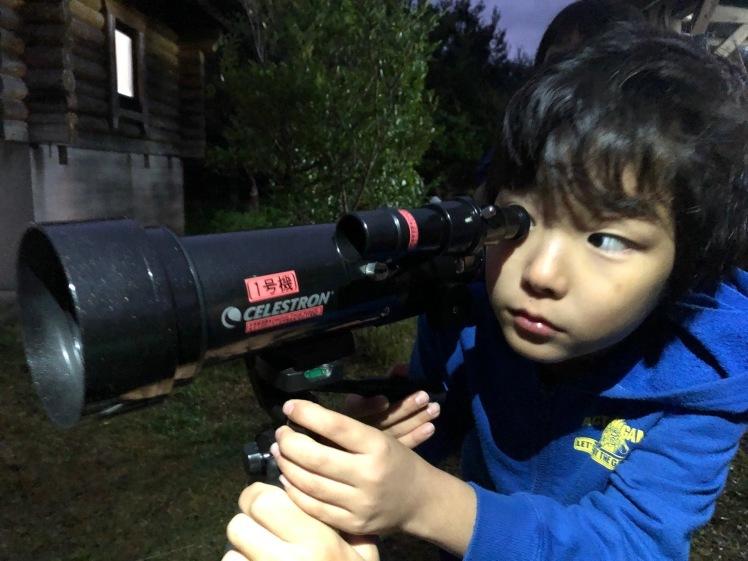星空キャンプ〔2日目〕山の上のキャンプ場に到着。雨の切れ間に天体望遠鏡の練習だ!_d0363878_22584424.jpg