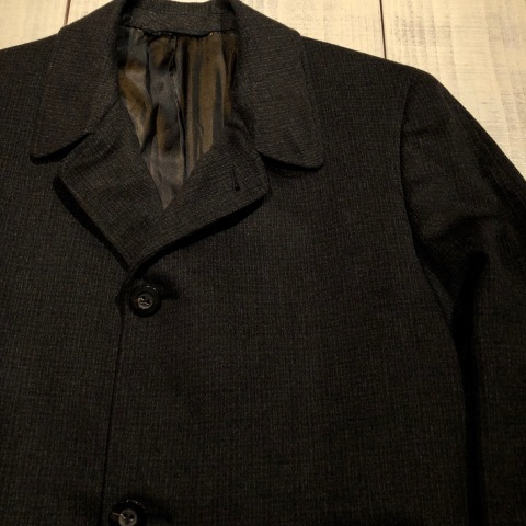 "1950s "" Tailored for BERG\'S - CALIFORNIA - \"" 100% CASHMERE Vintage SINGLE FLOCK COAT ._d0172088_16175655.jpg"