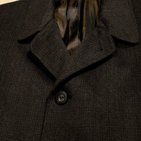 "1950s "" Tailored for BERG\'S - CALIFORNIA - \"" 100% CASHMERE Vintage SINGLE FLOCK COAT ._d0172088_16203685.jpg"