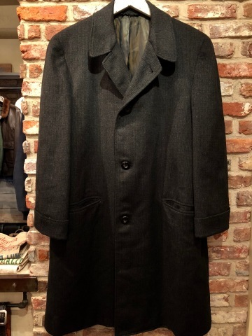 "1950s "" Tailored for BERG\'S - CALIFORNIA - \"" 100% CASHMERE Vintage SINGLE FLOCK COAT ._d0172088_16344646.jpg"