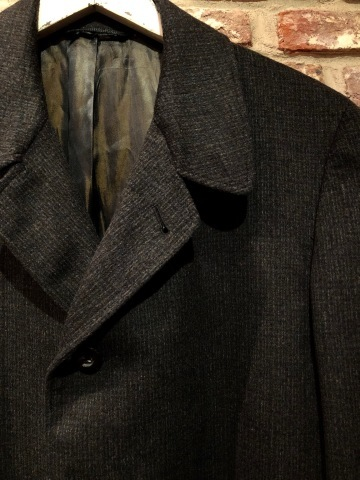 "1950s "" Tailored for BERG\'S - CALIFORNIA - \"" 100% CASHMERE Vintage SINGLE FLOCK COAT ._d0172088_16362333.jpg"