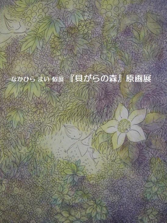 なかひら まい 個展 2019『貝がらの森』原画展開催 その3_e0134502_12371158.jpg