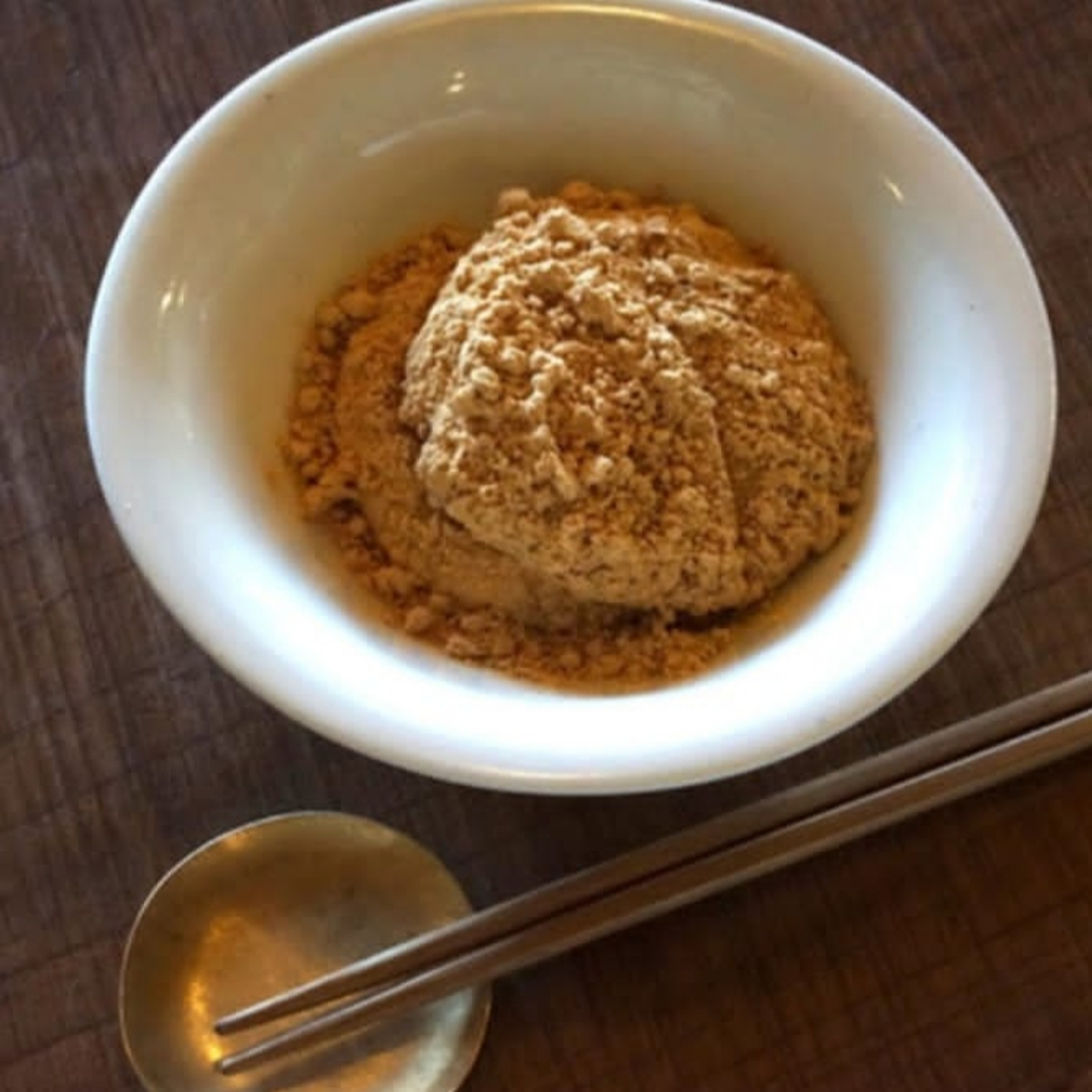 蒜山耕藝の丸餅と黄粉_f0120026_16532690.jpg
