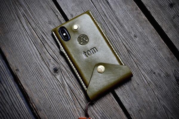 iphone Xs leather case_b0172633_20274851.jpg