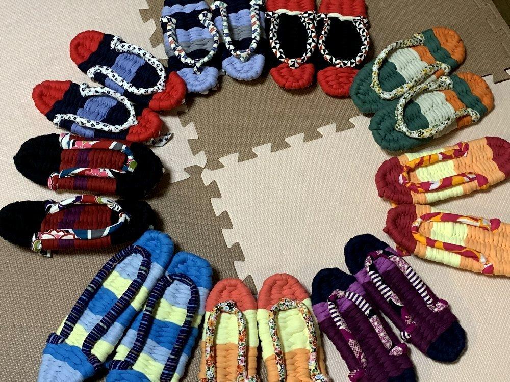 ☆ふっくら布ぞうり・編み方を教わりに行きました☆_c0092953_11482782.jpg