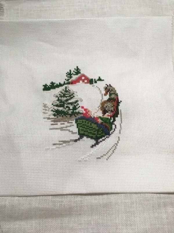 クリスマスモチーフのミニクッション 完成_a0374562_23134684.jpg