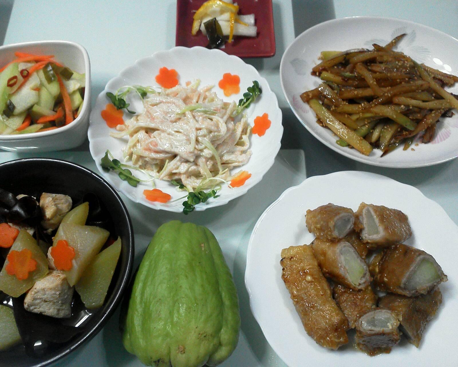 隼人瓜で簡単料理♪_b0236665_23224728.jpg