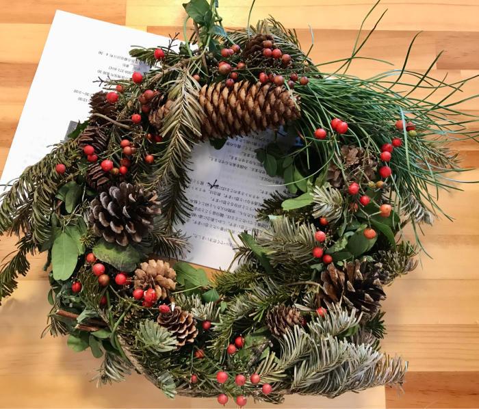 クリスマスリース4_e0233674_17345874.jpg