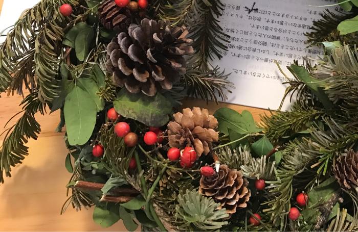 クリスマスリース4_e0233674_17382838.jpg
