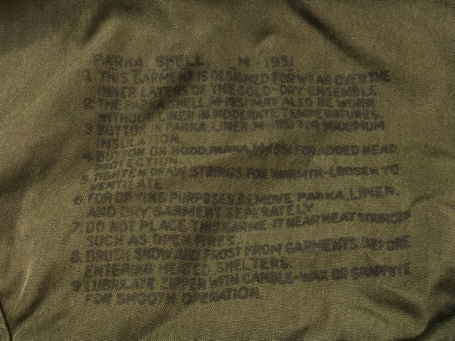 12月11日(水)大阪店ヴィンテージ入荷日!!#2 U.S.Army Part2編!! M-51 FishtailParka & JungleFatigue 2nd.3rd, BakerPants!!_c0078587_15111358.jpg